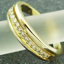 Cubic Zirconia Eternity Yellow Gold Filled Fashion Rings