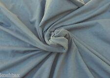 Gray Organic Cotton Spandex Fabric Eco Friendly Jersey Knit By Yard 4/16