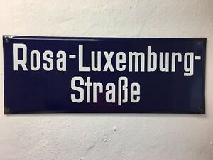 Rosa Luxemburg Straße , Sozialismus , Emailleschild, DDR