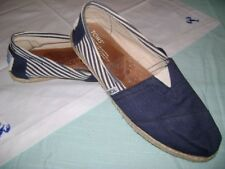 Toms Blue Striped Slip On Shoes Womens Size 9