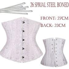 Women Waist Cincher underbust Corsets & Bustiers Satin 26 Steel Bones Corset HG