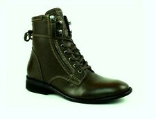 Diesel The PIT Combat Military Olive Night Leather Zip Boots 13 M