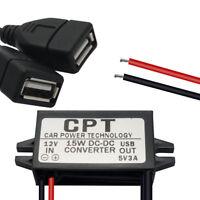 Dual USB DC Voiture Charger Module Module 12V à 5V 3A Adaptateur secteur