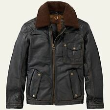 $1,200 Timberland sz XL Premium Shearling Collar Leather Ranger Field Jacket NWT