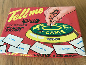 """Vintage Spear's Games  Tell Me Quiz Game""""  c.1960's  VGC"""