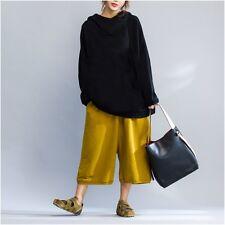 Ladies Harem Trousers Baggy Loose Drop Crotch Cropped Capri Pants Oversize New