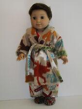 "Lake House/Lodge Pajama/Fleece Robe Set For 18"" Doll Clothes Logan American Girl"