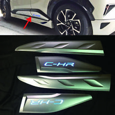 For Toyota C-HR CHR Car Side Door Body Trim Cover LED Accessories 4Pcs 2018