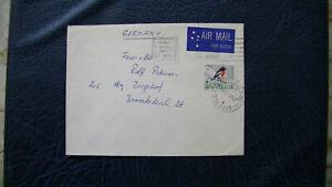 Australien, 1 Flugpostbrief von Australien nach Hamburg, gestempelt
