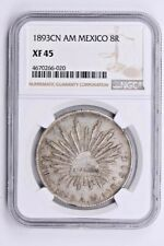1893CN AM Mexico 8 Reales NGC XF 45 Witter Coin