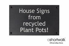 Deep Engraved 2 Line House Name Sign, Eco slate alternative LIFETIME GUARANTEE