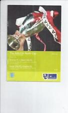 Aston Villa Home Team Under 18s/ 21s Football Programmes