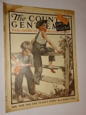 1922 The Country Gentleman Magazine August 26 issue 2 young boys fence on cover