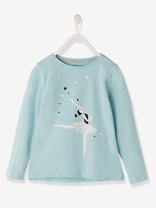 Shirt für Mädchen Obertaeil Langarm Bluse mit Motiv