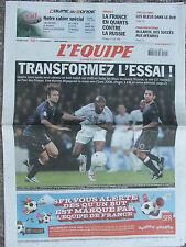 L'Equipe du 12/9/2007 - France-Ecosse - France -Russie - Volley - Mc Laren