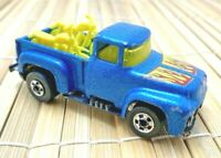 Vintage Hot Wheels Blackwall '56 Ford Hi Tail Hauler Blue W/ Yellow Motorcycles