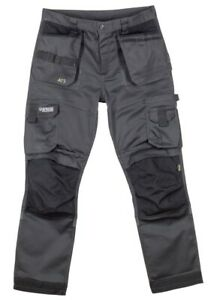Apache ATS 3D Stretch Skinny Fit Tapered leg Workwear Trouser holster+kneepad