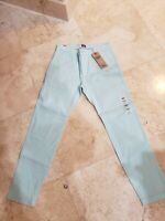 LEVI'S MEN'S XX CHINO STANDARD TAPERED LEG LIGHT AQUA BLUE PANTS 32X34 $69 NWT