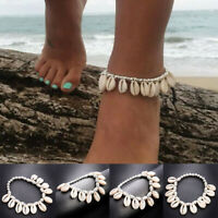 Women Bohemian Sea Shell Bead Anklet Bracelet Sandal Summer Beach Ankle Jewelry