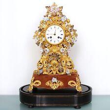 DEMEUR FARRET GILDED TOP Mantel Clock Dome ROYALTY Antique 1860 Porcelain French