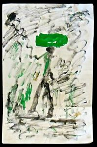 PURVIS YOUNG: An Original Painting by This Renowned Artist: 'Figure with Green B
