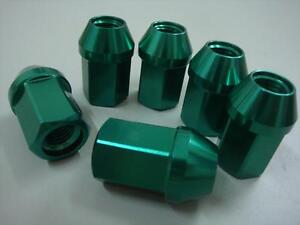 20pc OPEN M12X1.25 35MM ALUMINUM TUNER RACING LUG NUT For Toyota86 Green