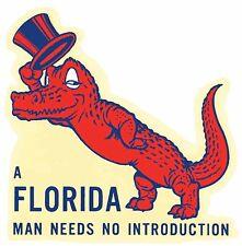 University Of Florida  GATORS  Vintage-Looking  Travel Decal  Sticker   Man