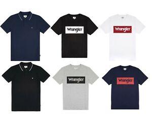 Mens Designer Branded Wrangler T-Shirt 'SS LOGO TEE' Short Sleeve