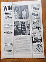 1956 Owens Flagships Boats Ad Win one of These