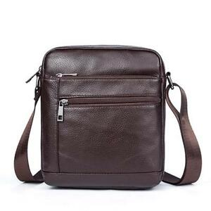 Genuine Leather Men Crossbody Shoulder Bag Small Messenger Male Tote Man Handbag