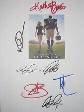 The Blind Side Signed Script X7 Sandra Bullock Tim McGraw Kathy Bates reprint
