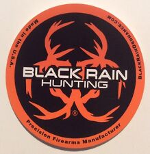 BLACK RAIN ORDNANCE HUNTING  PRECISION FIREARM Glossy Orange Black STICKER DECAL