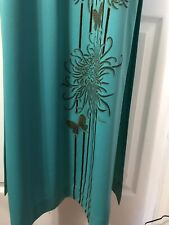 New listing Alfred Shaheen Hand Painted Signed Vintage Long Kimono Style Maxi Dress Floral-