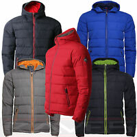 Mens Jacket Coat Padded Bubble Puffer Hooded Lined Winter Threadbare GENESIS