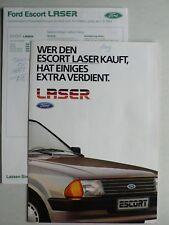 Prospekt Ford Escort 3 Laser, 7.1984, 6 Seiten, folder mit Daten-/Preisblatt