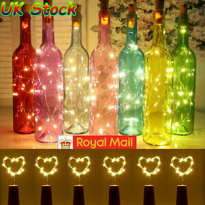 20 LED 2m Bottle Fairy String Lights Battery Cork Shaped Christmas Wedding Party
