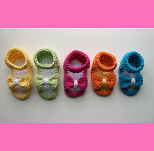 Crochet Pattern - Baby Bow Shoes / Sandals / Booties (3 sizes)