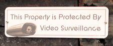 "5"" x 18"" Aluminum Outdoor Video Surveillance Sign Logitech Alert Security Camera"