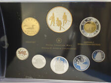 Canada 2012 War of 1812 Silver Dollar 99.99% Pure Silver 8 Coin Proof Set + Gold