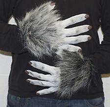 gris loup-garou Gants en latex, Déguisement Halloween effrayant LOUP chien PAWS