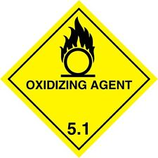 OXIDIZING AGENT 1.5  WARNING SIGN MAGNETIC SIGNS H&S 100mm x 100mm