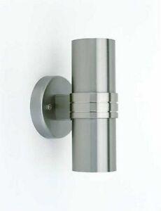 Automatik lampe Dämmerungssensor Wandleuchte Wandlampe Edelstahl Up & Down Led