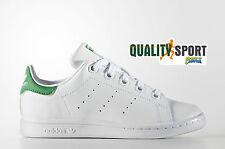 Adidas Originals Stan Smith Junior Bianco/verde in Pelle Formatori Scarpe 28 EU