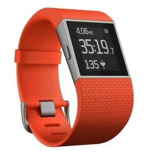Fitbit Surge Fitness Super Watch With Heart Rate Monitor Tangerine- L