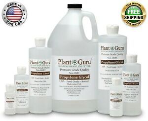 Propylene Glycol Food Grade USP 99.9% Pure Kosher NON GMO PG VG 1 oz to 1 Gallon