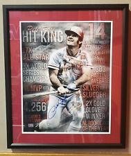 Pete Rose autographed professionally framed 16x20 Cincinnati Reds -
