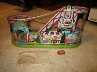 Vintage J. Chein Roller Coaster & 1 Car Litho Wind-Up Toy!!!