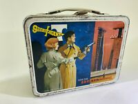 VTG Secret Agent Metal Lunchbox No Cup Thermos Coder DS56