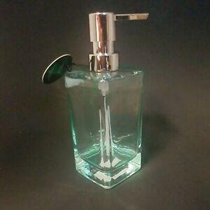 OGGI 12oz. SQUARE Glass Lotion & Soap Dispenser for Kitchen or Bath 5710.6 Aqua