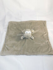 Piccolo Bambino Monkey Lovey Security Blanket Gray Fleece Hard to Find